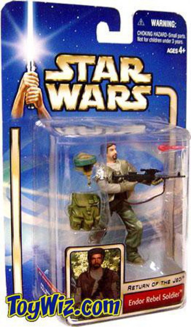 Star Wars Return of the Jedi Basic 2002 Collection 1 Endor Rebel Trooper Action Figure