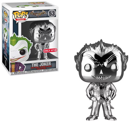 Funko Batman Arkham Asylum POP! Heroes The Joker Exclusive Vinyl Figure #53 [Silver Chrome]
