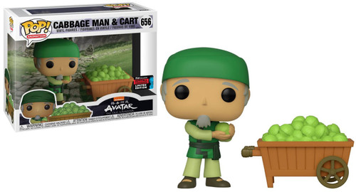 Funko Avatar The Last Airbender POP! Animation Cabbage Man & Cart Exclusive Vinyl Figure #656