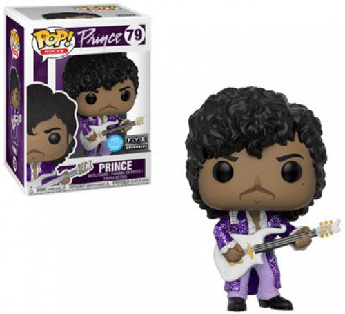 Funko POP! Rocks Prince Exclusive Vinyl Figure #79 [Purple Rain, Glitter, Damaged Package]