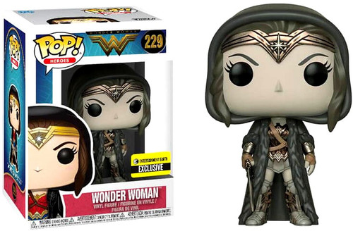 Funko DC Wonder Woman Movie POP! Heroes Wonder Woman Exclusive Vinyl Figure #229 [Cloak, Sepia, Damaged Package]