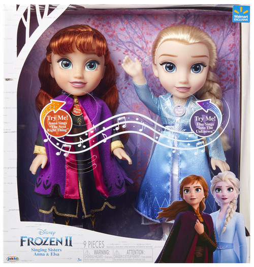 Disney Frozen 2 Singing Sisters Anna & Elsa Exclusive 14-Inch Doll 2-Pack [with Sound]