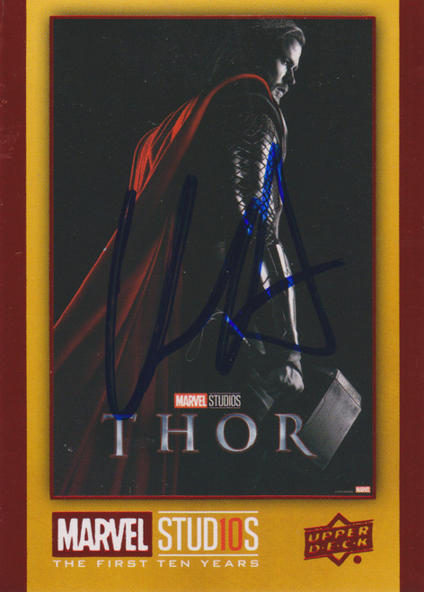 Upper Deck Marvel Studios The First Ten Years Thor Signed by Chris Hemsworth Autograph Card [Includes JSA Authentication Card]