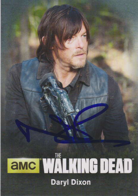 The Walking Dead Topps Daryl Signed by Norman Reedus C02 Autograph Card C02 [Includes JSA Authentication Card]