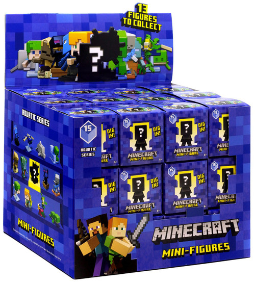 Minecraft Aquatic Series 15 Mystery Box [36 Packs]