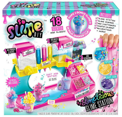 So Slime DIY Slime'licious Slime Station Exclusive Playset Starter Kit [Make 18 Scented Slimes]