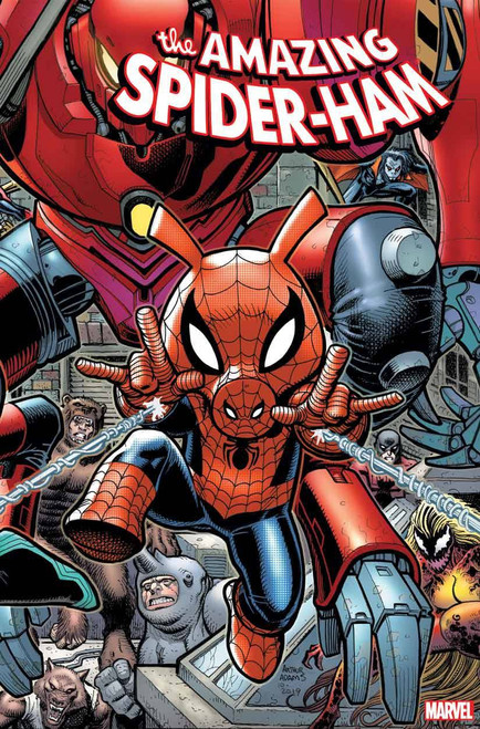 Marvel Spider-Ham #1 of 5 Comic Book [Art Adams Connecting Variant Cover]