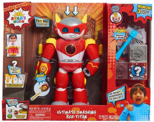Ryan's World Ultimate SMASHING Red Titan Exclusive Deluxe Figure [BONUS 3 Smashin' Surptrise Safes]