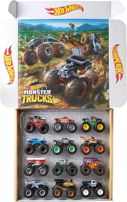 Hot Wheels Monster Trucks Ultimate Chaos! Exclusive Diecast Car 12-Pack