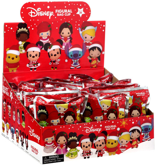 3D Figural Foam Bag Clip Disney Series 26 Christmas Mystery Box [24 Packs]