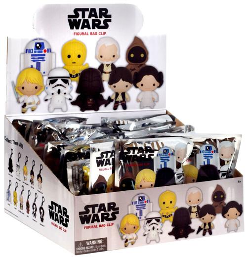 3D Figural Foam Bag Clip Star Wars Series 1 Mystery Box [24 Packs, Version 1]