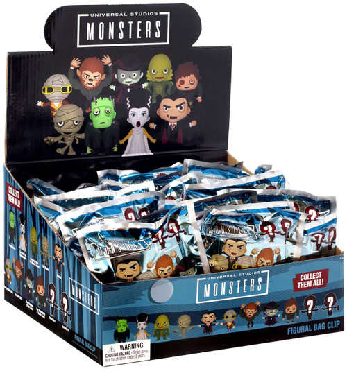 3D Figural Foam Bag Clip Horror Series 5 Universal Monsters Mystery Box [24 Packs]