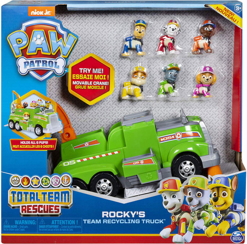 Paw Patrol Total Team Rescues Rocky's Team Recycling Truck