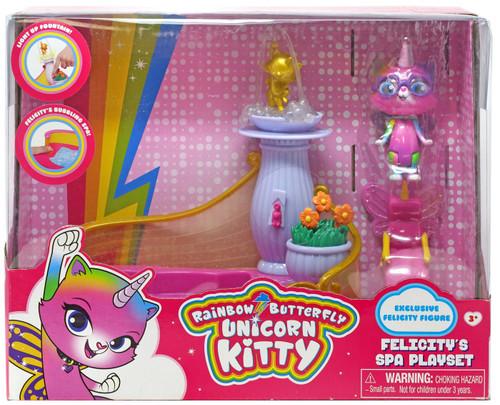 Nickelodeon Rainbow Butterfly Unicorn Kitty Felicity's Spa Playset