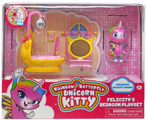 Nickelodeon Rainbow Butterfly Unicorn Kitty Felicity's Bedroom Playset