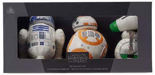 Disney Star Wars The Saga Edition R2-D2, BB-8 & D-O Exclusive 6-Inch Droid Plush 3-Pack Set