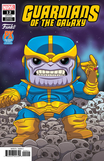 POP! Marvel #12 Guardians of the Galaxy Exclusive Comic Book [Funko Thanos Variant Cover]