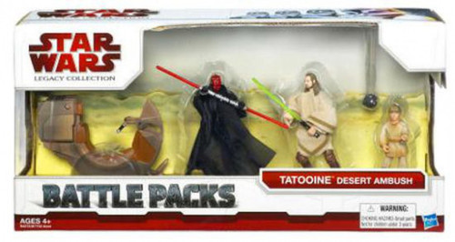Star Wars Phantom Menace 2009 Battle Pack Tatooine Desert Ambush Action Figure Set