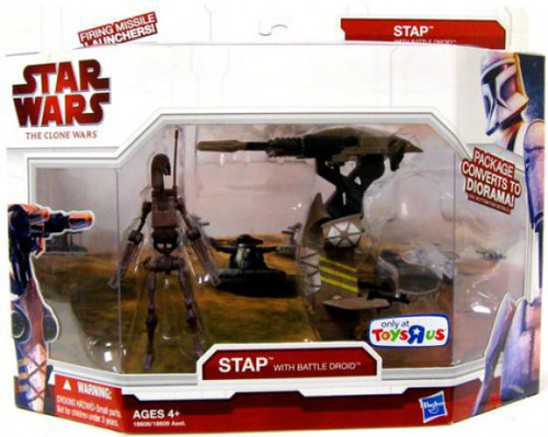 Star Wars The Clone Wars STAP with Battle Droid Exclusive Vehicle & Action Figure