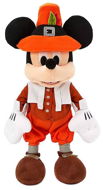 Disney 2019 Thanksgiving Mickey Mouse Exclusive 12-Inch Plush [Pilgrim]