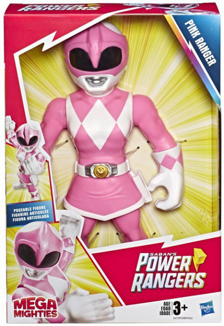 Power Rangers Playskool Heroes Mega Mighties Pink Ranger 10-Inch Figure