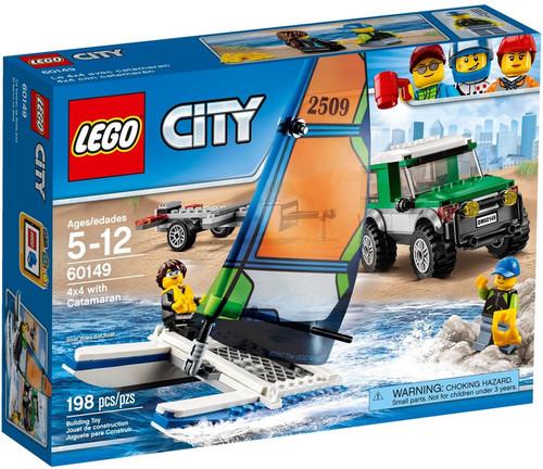 LEGO City 4x4 with Catamaran Set #60149 [Damaged Package]