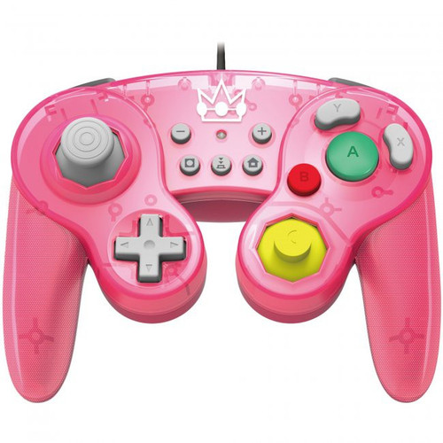 Nintendo Super Mario Switch Princess Peach GameCube-Style Switch Battle Pad Wired Controller