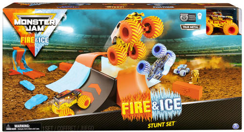 Monster Jam Fire & Ice Stunt Set Exclusive Playset