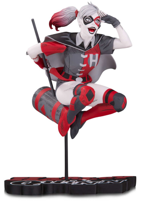 Batman Harley Quinn Red, White & Black Harley Quinn (Version 2) 7-Inch Statue [Guillem March] (Pre-Order ships November)