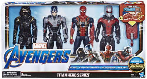 Marvel Avengers Infinity War Titan Hero Series Power FX Ronin, Captain America, Iron Spider & Ant-Man Action Figure 4-Pack