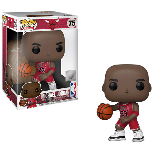 Funko NBA Chicago Bulls POP! Sports Basketball Michael Jordan 10-Inch Vinyl Figure #75 [Super-Sized, Red Jersey]
