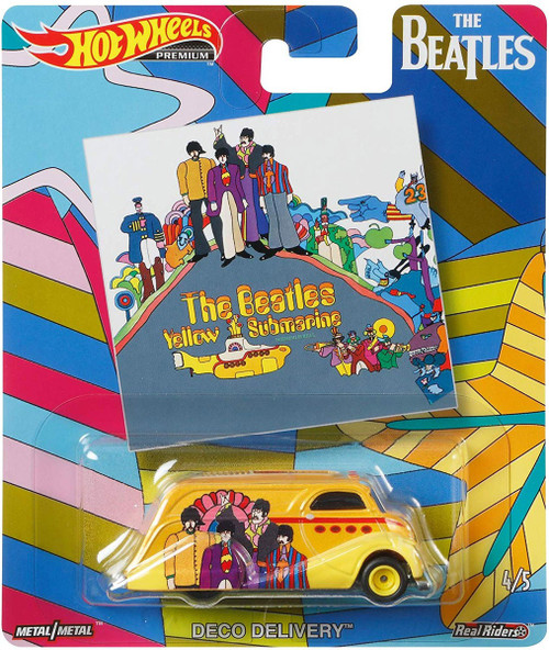 Hot Wheels The Beatles Yellow Submarine Diecast Car #4/5 [Deco Delivery]