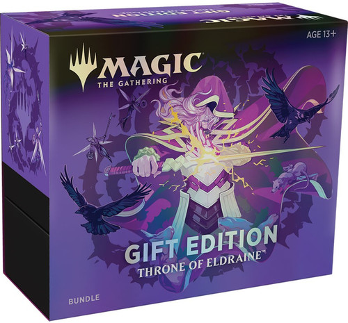 MtG Trading Card Game Throne of Eldraine Gift Edition Bundle [Includes 10 Booster Packs!]