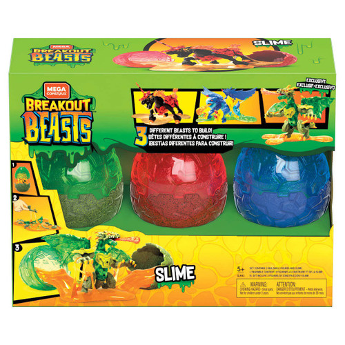 Breakout Beasts Charcolt, Sleetstorm & Lizzord Exclusive Slime Egg Mystery 3-Pack