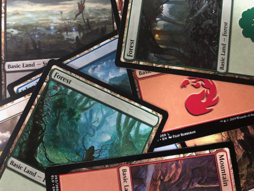 MtG Custom Lot of 50 Basic Land Single Cards