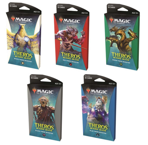 MtG Trading Card Game Theros Beyond Death Set of All 5 Theme Boosters