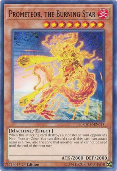 YuGiOh Chaos Impact Common Prometeor, the Burning Star CHIM-EN025