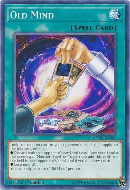 YuGiOh Chaos Impact Common Old Mind CHIM-EN066