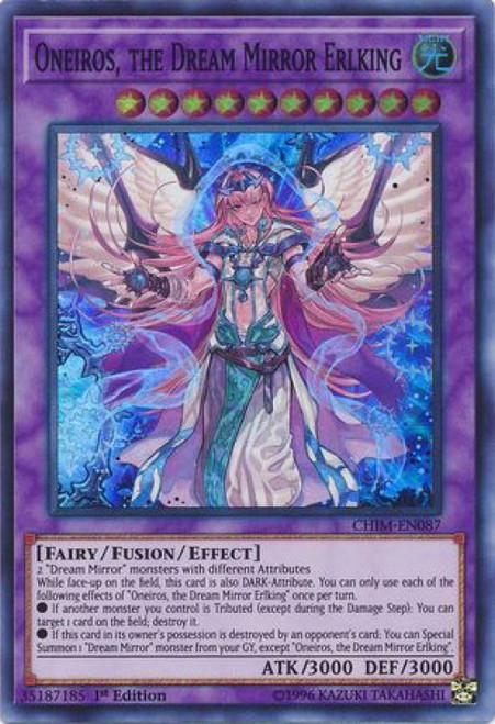 YuGiOh Chaos Impact Super Rare Oneiros, the Dream Mirror Erlking CHIM-EN087