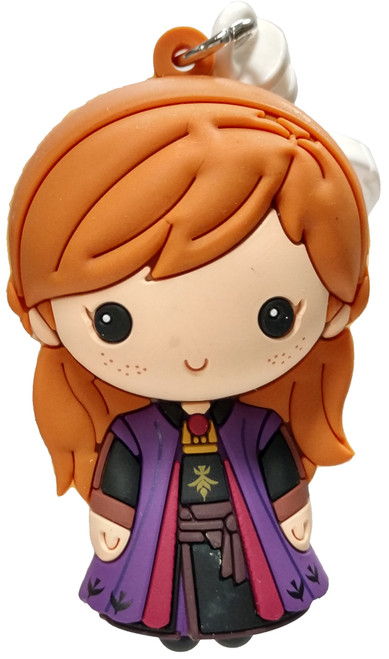 Disney 3D Figural Foam Bag Clip Frozen 2 Anna Mystery Minifigure [Purple Dress Loose]