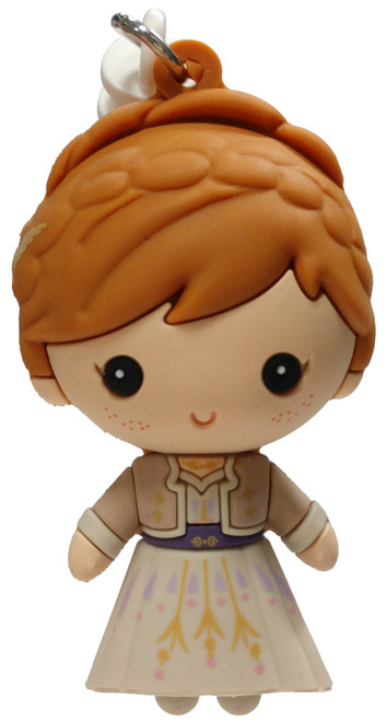 Disney 3D Figural Foam Bag Clip Frozen 2 Anna Mystery Minifigure [Tan Dress Loose]