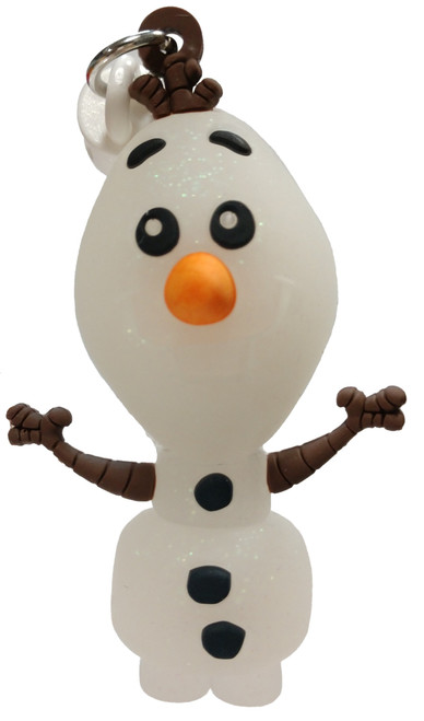 Disney 3D Figural Foam Bag Clip Frozen 2 Olaf Mystery Minifigure [Glitter, Exclusive A Loose]
