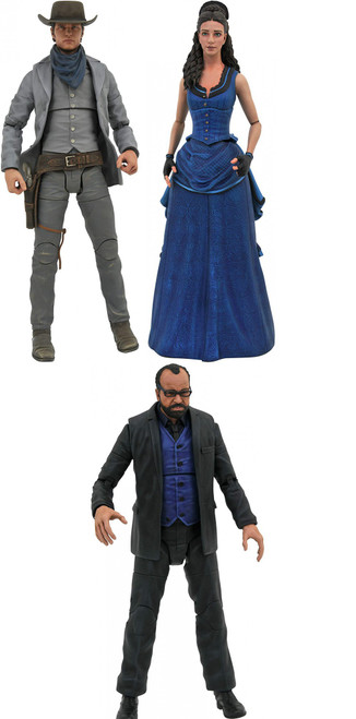 Westworld Select Series 2 Bernard, Teddy & Clementine Set of 3 Action Figures