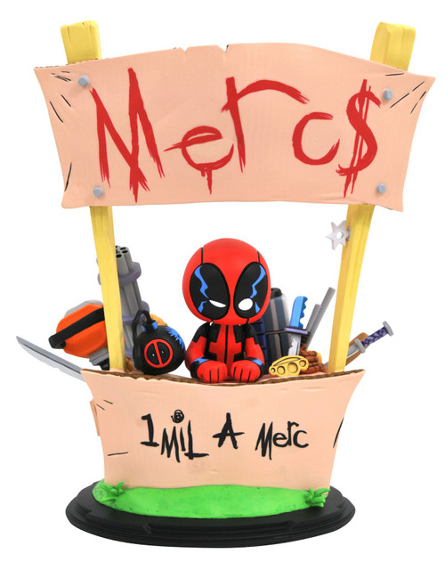 Marvel Deadpool 8-Inch Animated Style Statue [Merc for Hire]