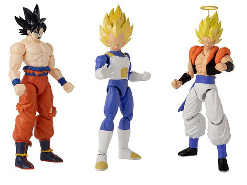 Dragon Ball Super Dragon Stars Series 15 Super Saiyan Gogeta, Vegeta V2 & Instinct Goku Set of 3 Action Figures (Pre-Order ships January)