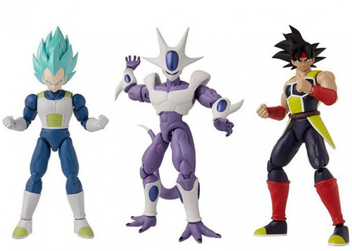 Dragon Ball Super Dragon Stars Series 16 Final Form Cooler, Bardock & Super Saiyan Blue Vegeta V2 Set of 3 Action Figures