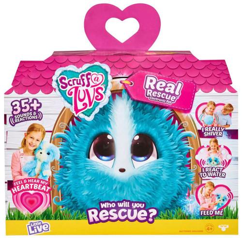 Little Live Pets Scruff A Luvs Real Rescue Plush Surprise Rescue Pet [Blue]