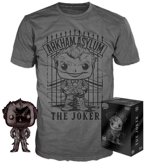 Funko DC Arkham Asylum POP! Heroes The Joker Exclusive Vinyl Figure & T-Shirt [Large]
