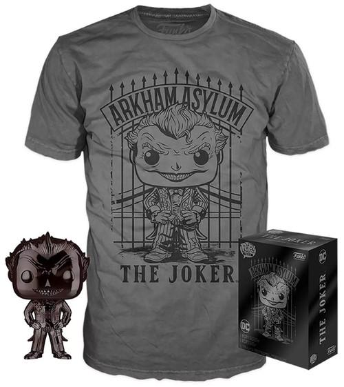 Funko DC Arkham Asylum POP! Heroes The Joker Exclusive Vinyl Figure & T-Shirt [Large]