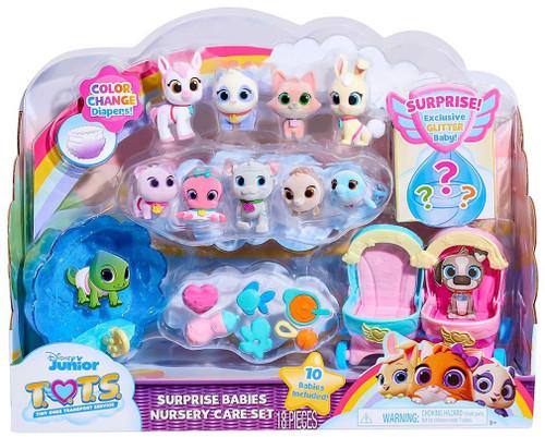 Disney Junior TOTS (Tiny Ones Transport Service) Surprise Babies Nursery Care Set Exclusive Figure 10-Pack [Version 2, Exclusive Glitter Baby!]